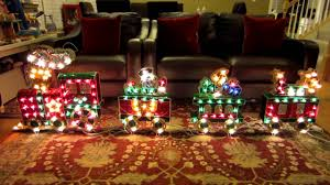 animated yard christmas train decorations