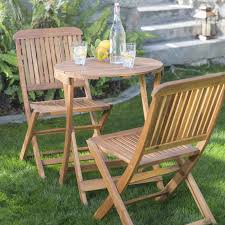 Patio Bistro Sets On Sale by Coral Coast Lindos 3 Pc Folding Patio Bistro Set Hayneedle
