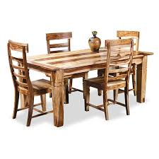 Natural Wood Dining Room Sets Tahoe Natural 5 Piece Dining Set T 4004 5pc Jaipur Home