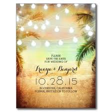 postcard save the date palm string lights save the date postcard