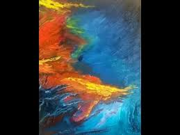 coral reef full length abstract oil painting with instructions