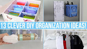 Diy Home Ideas 13 Clever Diy Home Organization Ideas Youtube