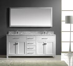 double sink mirror vanity signaturehardware com bathroom