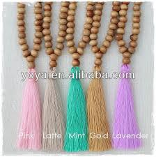 tassel necklace bead images Ne2101 wholesale wooden beads necklace peach tassel beaded jpg