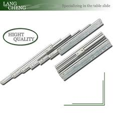 table extension slide mechanism multi sections folding telescopic dining table extension mechanism
