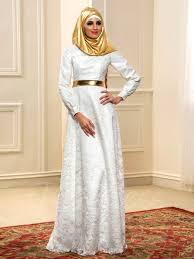 muslim wedding dresses a line lace sleeve muslim wedding dress with gold