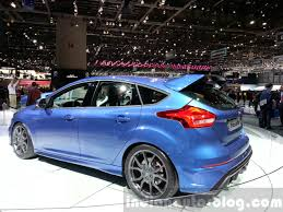 ford focus 2015 rs ford focus rs rear three quarters left at the 2015 geneva motor