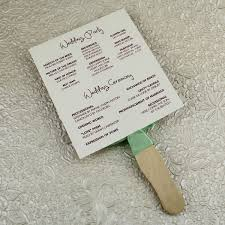 wedding ceremony fan programs wedding program paddle fan template matelasse design