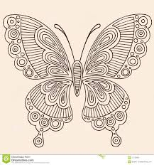 butterfly outline doodles stock vector illustration of notebook
