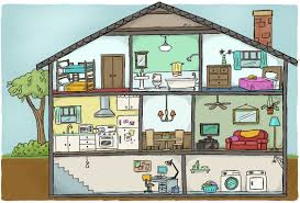 rooms in a house clipart clipartxtras