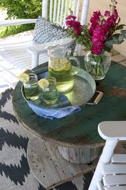 cable spool porch table u2013 rumfield homestead