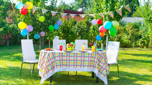 decoration garden party decorations simple garden kids party decor with plaid colorful