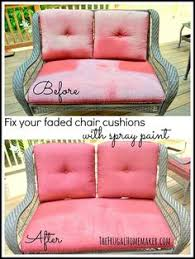 Patio Furniture Upholstery How To Paint Furniture Upholstery No Sew Or Wish I Could Sew
