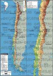 chile physical map geoatlas countries chile map city illustrator fully