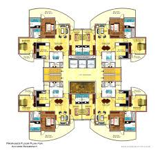 santa fe style home with walkout floor plan evstudio architect for