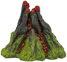 nemo 5 inch aerating volcano resin aquarium ornament