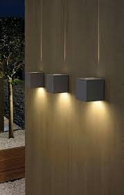 Exterior Unbelievable Design Balcony Lighting by Dual Cube Lighting A Chunky Square Exterior Wall Light Fitting