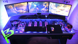 Desk For Gaming Pc by Epic Liquid Cooled Pc In A Desk Youtube