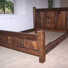 Bed Frame Wood Buy Crafted Reclaimed Antique Oak Wood Size Rustic Bed