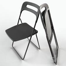 Folding Chairs Ikea 3d Models Chair Nisse Folding Chair Ikea