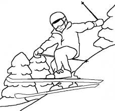 sport winter coloring pages free sheets preschoolers