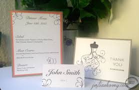 diy wedding place cards menus u0026 thank you cards youtube