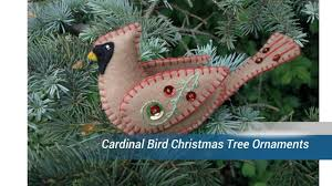 cardinal bird tree ornaments