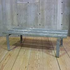 antique industrial galvanized bench 10 available each rt facts