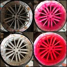 expensive pink cars plasti dip rims