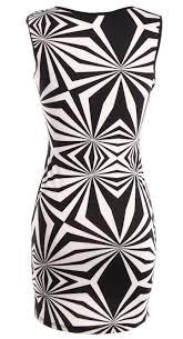 optical illusion dress optical illusion dress monochrome cutout bodycon dresses