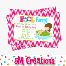 pool party invitations free birthday party invitations handmade birthday party dresses