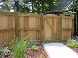 Backyard Grill Cypress by Privacy Fence Post Dog Eared