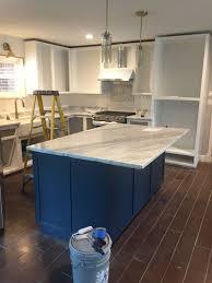 sherwin williams navy blue kitchen cabinets sherwin williams sea serpent kitchen island seaserpent