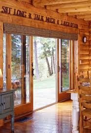 Roman Shade For French Door - window treatments for french doors real log homes