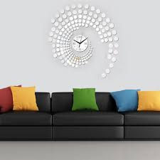 special peacock dots design diy wall clock decor fashion special peacock dots design diy wall clock decor fashion sticker set mirror effect decal for home decoration modern kitchen clocks