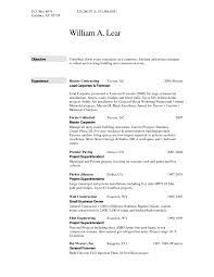 Sample Construction Superintendent Resume by Resume Of A Construction Worker Free Resume Example And Writing