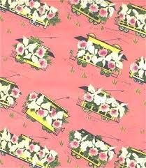 vintage wrapping paper vintage wrapping paper floral by sandycreekcollectables on