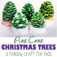 pine cone christmas trees a tutorial for kids cucicucicoo
