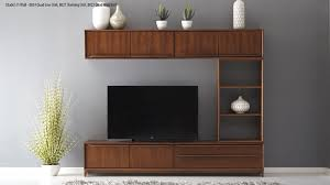 Wall Unit Furniture Fully Assembled Living Room Nathan Furniture Citadel 21 8023 4