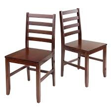 amazon com winsome hamilton 2 piece ladder back chair chairs
