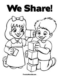 beautiful sharing coloring page 23 on line drawings with sharing