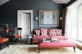 red sofa with red ottoman living room ideas houseandgarden co uk