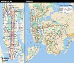 New York Bus Map by Nft Not For Tourists On Behance