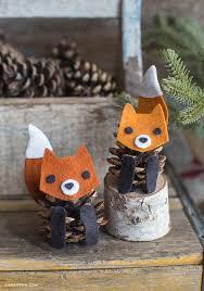 felt pinecone fox lia griffith