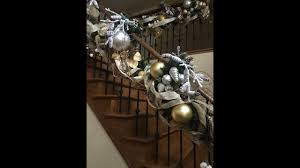 Christmas Railing Decorations How To Decorate A Christmas Staircase Rustic Christmas Railing
