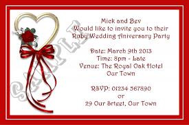 40th anniversary invitations 40th wedding anniversary invitation templates