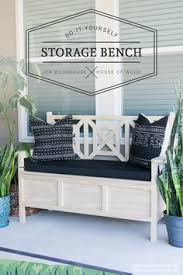 Diy Outdoor Storage Bench Seat by This Diy Outdoor Storage Bench Started From An Ana White Building