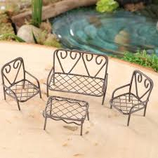 Wire Patio Chairs Miniature Vintage Inspired Wire Table And Chairs Patio Set