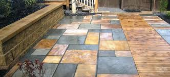 outdoor pavers for patios adding accent colors design ideas