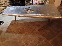 Airplane Wing Coffee Table by Airplane Coffee Table